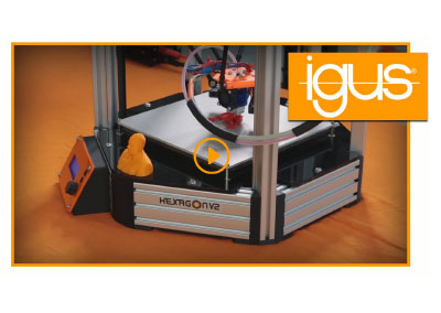 HEXAGON v2 3D-printer – DIY with igus® products