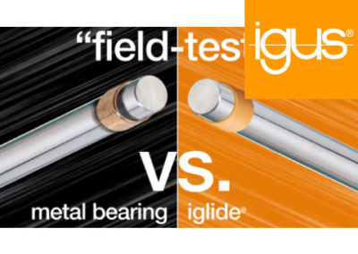 igus® Plastic vs. Metal bushings – agriculture equipment field test
