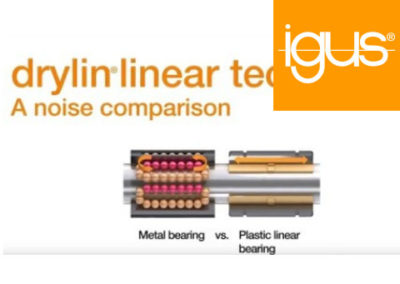 igus® Linear bearing sound test: Plastic vs. Metal