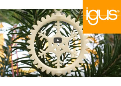 igus® – DIY Christmas Special: 3D-gedruckte Schneeflocke